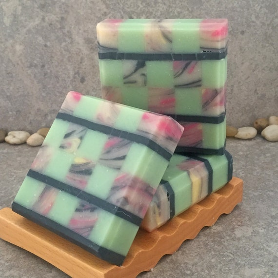 Mosaic Soap - Lotus Blossom Scented Artisan Coconut Milk Bar Soap II