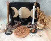Pocket Travel Altar in Shades of Brown Ready to Ship