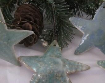 STARFISH Hanging Ornament Stoneware Pottery