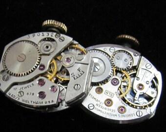 Vintage Watch Movements  Parts Steampunk Altered Art Assemblage TM 50