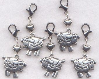 Sheep Stitch Markers Crochet Clip Love My Sheep Love Wool Set of 5/SM230