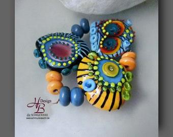 Delit 11 colourful beads , Beadset, SRA B131,colorful beads set, Lampwork, Murano