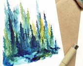 Limelight Pines - Greeting Card - Pines, Nature, West, Hiking, Adventure
