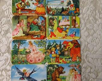 Vintage EAS Germany Die Cut Paper Scraps Fairy Tales  EAS 3067