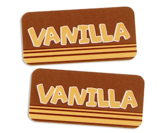 Vanilla Bakery Labels - stickers for packaging cookies, cake, muffins, treats, and baked goods