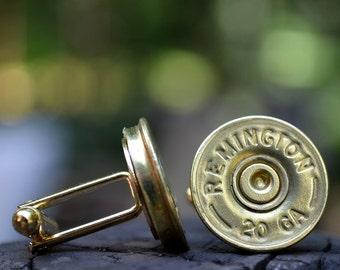 Wedding cuff links shotgun cuff links bullet cufflinks Remington 20 gauge wedding cuff links gold cuff links bullet cufflinks