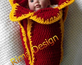 Baby TULIP cocoon girl boy newborn original design red yellow spring flower photography props made in Canada