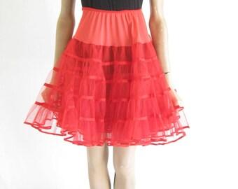 Vintage 60's Red Crinoline Skirt