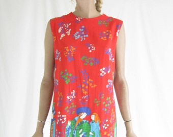 Vintage 60's Mod Sheath Dress.