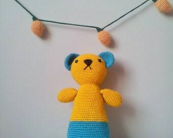 bear plush toy,crochet bear toy,amigurumi bear,children toy,nursery decoraiton