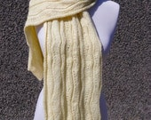 On Sale Lovely Yellow Hand Knitted Scarf