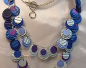 Blue Paper Necklace from beccasblend