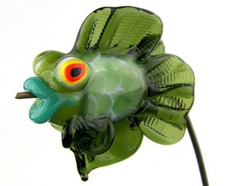 Sculptural Beta Fish Lampwork Glass Bead by Chase Designs