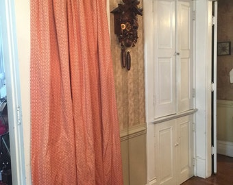 8 heavy duty customs made curtain drape panels . Black out panals