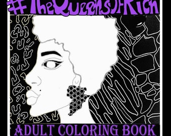 Adult coloring book for women of color
