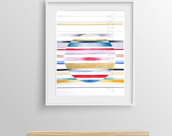 """Original painting, abstract art, contemporary art, watercolor painting, abstract paintings, geometric painting, painting, 12,8"""" x 18,1"""""""