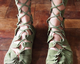 handmade leather sandals leather boots gladiator boots