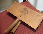 Vintage Cotton Carding Paddles