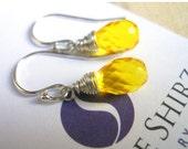 FLASH SALE, Yellow teardrop earrings, It's always sunny in SueanneLand earrings