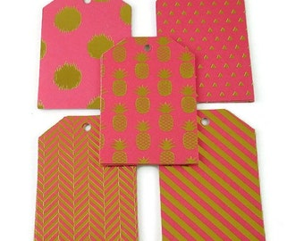 Funky Tags  Large Paper Gift Tags in Bold and Bright - Hot Pink  of 20
