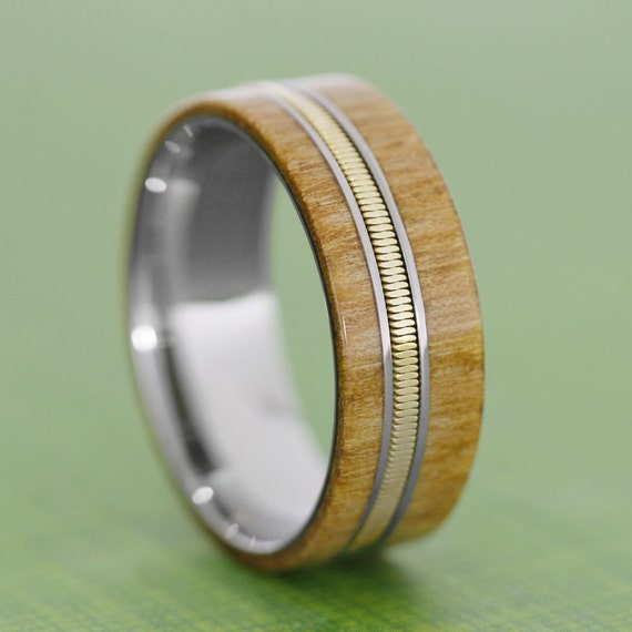 guitar ring custom made wood ring with a guitar by