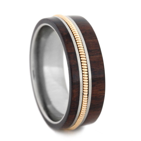 Man Wood Wedding Band Guitar Ring Titanium Ring By. Snowflake Rings. Celebrity Anniversary Engagement Rings. Plain Gold Engagement Rings. Claw Rings