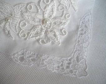 Imported White Irish Irish Linen Wedding Keepsake Hankie As Seen At Martha Stewart Wedding Party by handcraftusa Etsy