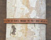 romans 5:5 - adjustable leather bracelet  (additional colors available)