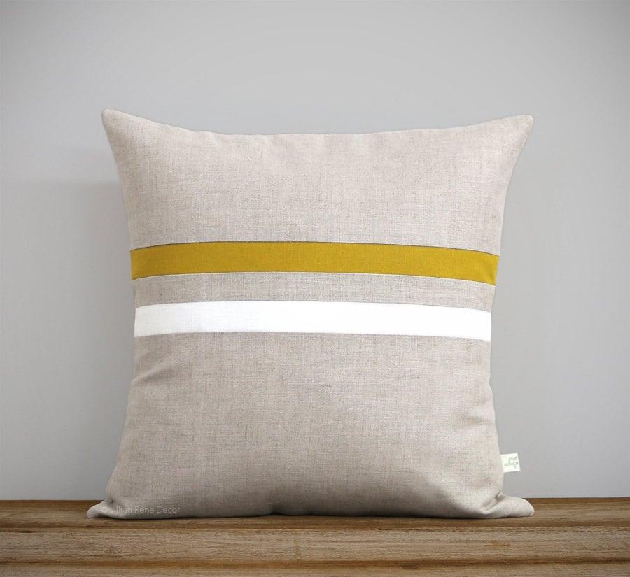 Signature Striped Pillow 16x16 Modern Classic Home Decor