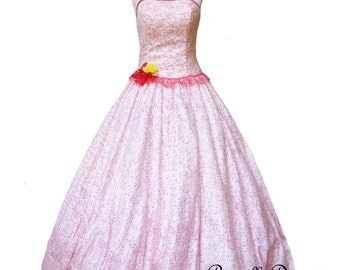 Summer Sale Floor length Floral Gown Ravishing Corsette Mary Antoinette Layered corsette Tea Princess Dress Bodice