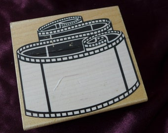 Film Strip Photo Reel Rubber Stamp