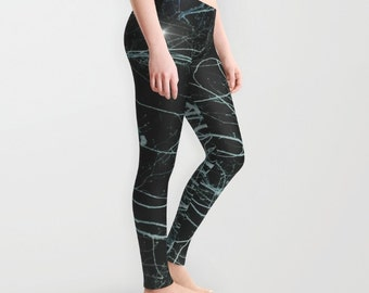 Starry Night Leggings, Trees Yoga Pants, Unique Fashion, Stars Yoga Leggings, Women, Teen Active Wear, Running Pants, Jogging Pants, Surf