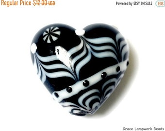 ON SALE 40% OFF Elegant Lady Heart Focal Bead - Handmade Glass Lampwork Bead 11835805