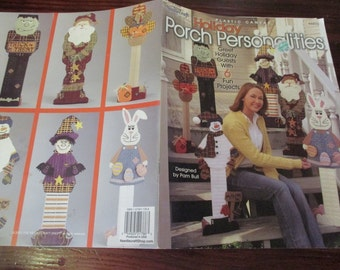Holidays Plastic Canvas Patterns Holiday Porch Personalities Needlecraft Shop 844032 Plastic Canvas Patterns Leaflet