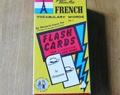 Vintage French Vocabulary Flash Cards Vintage Flash Cards 1959
