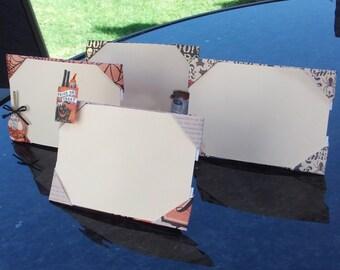 set of 4 - Halloween theme origami frames 4 x 6