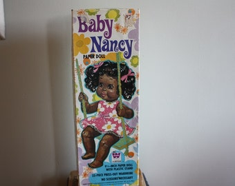 Baby Nancy African American 9.5 Inch Paper Doll Set 1971 RARE