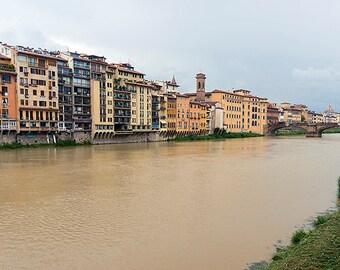 "Italy Photo - Florence Italy - Bridge Photo - Florence Photo - Italy Art - Home Decor - Wall Art - Travel Photography - ""Arno River"""