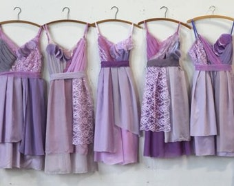 Custom Lavender Bridesmaids Dresses
