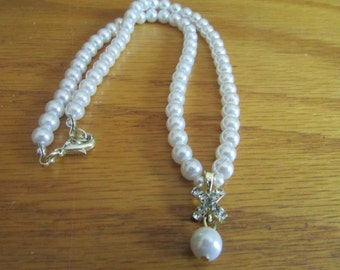 creamy white pearl necklace