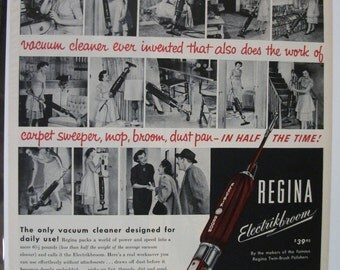 105 Regina Electrikbroom Ad - 1952