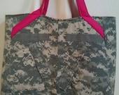 U S Army ACU Tote bag, Swoon Alice Pattern