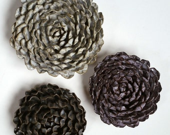 Chrysanthemum Wall Flowers - Set of 3