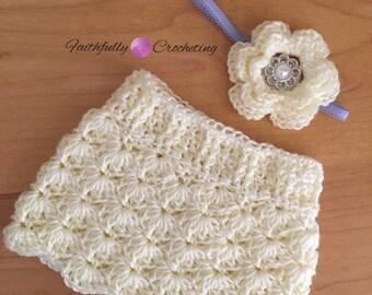 Newborn skirt.. Matching headband.. Photography prop.. Ready to ship
