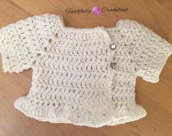 Newborn Sweater.. white baby sweater.. ready to ship