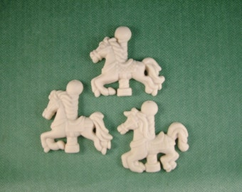 Carousel Horse Ornaments set of 3