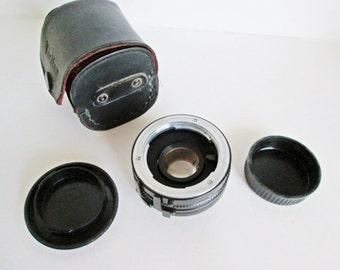 Vivitar MC Teleconverter 2X-5 Lens with leather case Screw Mount Lens for Minolta Camera Vintage Camera Lens