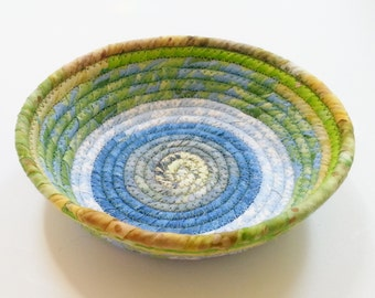 Coiled Fabric Bowl - Green