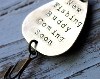 Father's Day - Personalized Handstamped Fishing Lure. Customized for you! Perfect Stocking Stuffer for Dad or Grandfather!