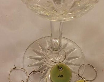 Ceramic wine charms (4) Cone 6